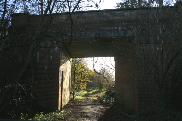 Disused railway at Earl's Hall