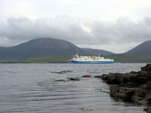 Northlink ferry arriving in Stromness from Scrabster