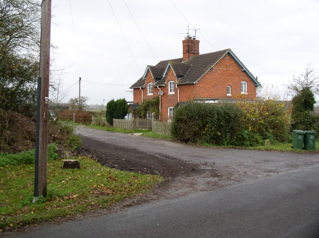 Houses off minor road south of West Swindon