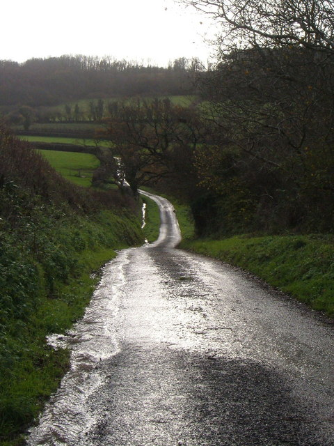 Wet lane below Wilburton