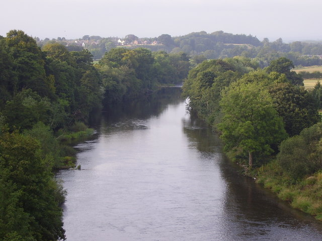 River Eden from Railway Bridge at Wetheral