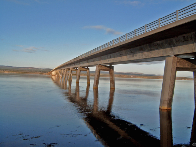 Dornoch Firth Bridge (west side)