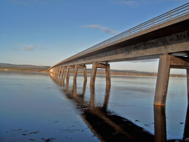 Dornoch Firth Bridge (west side)