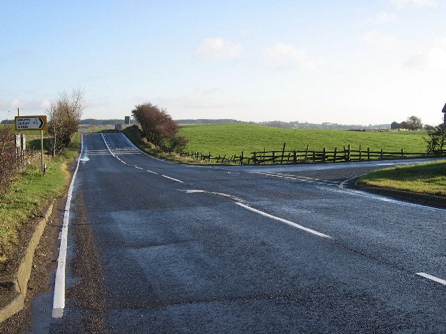 The Main Road Turns To Bellerby