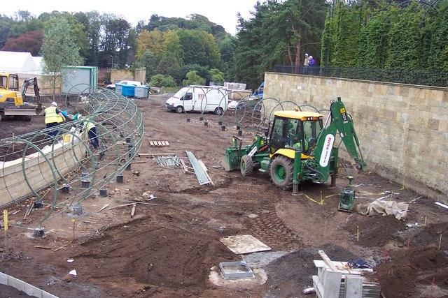 Garden construction at Alnwick.