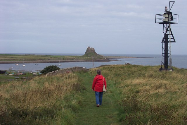 The promontory overlooking the Ouse and Lindisfarne Castle.