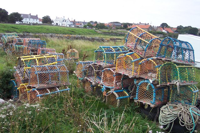 Lobster pots by the Ouse.