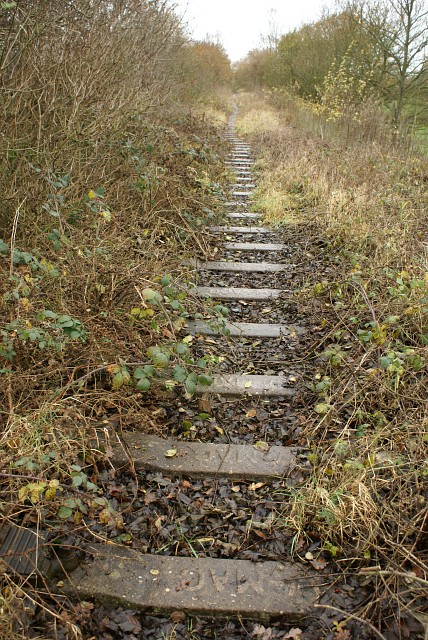 Disused rail track near Fackley