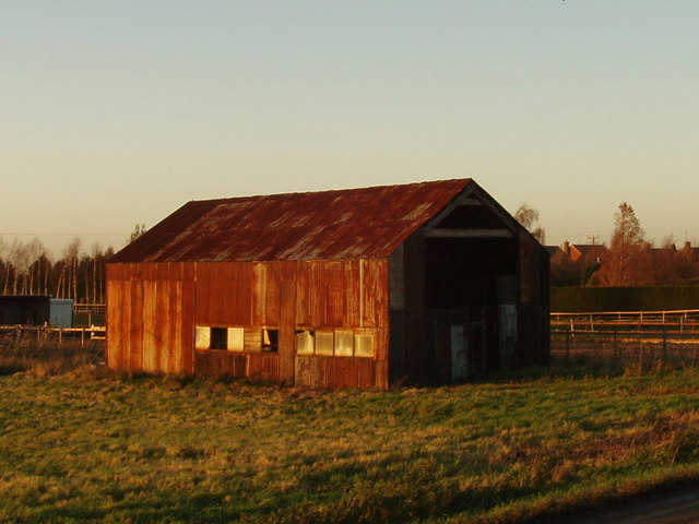 Barn in low sunshine, Ramsey Heights