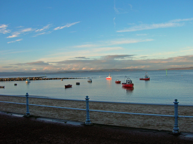Boats on Morecambe Bay