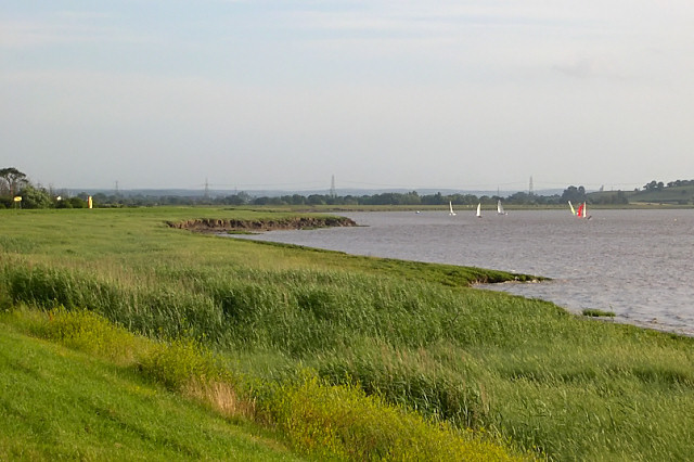 The banks of the Severn estuary near Oldbury