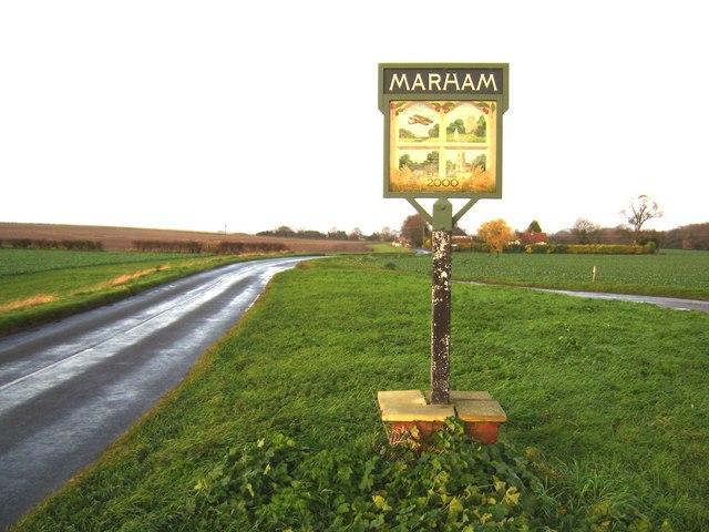 Marham village sign