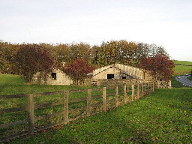 Sheds Beside The A684