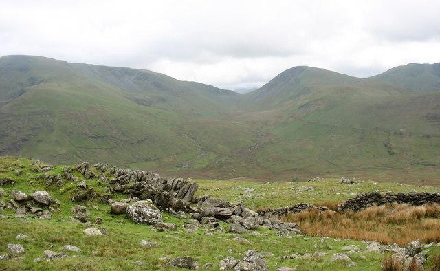 The southern slope of Y Derlwyn