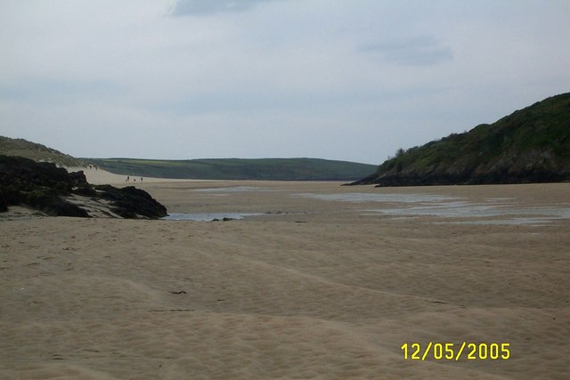 The estuary of the River Gannel flowing through Newquay