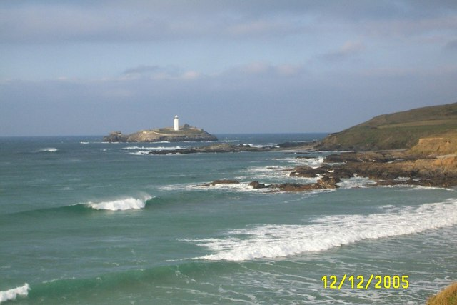 Godrevy Island from Gwithian Sands