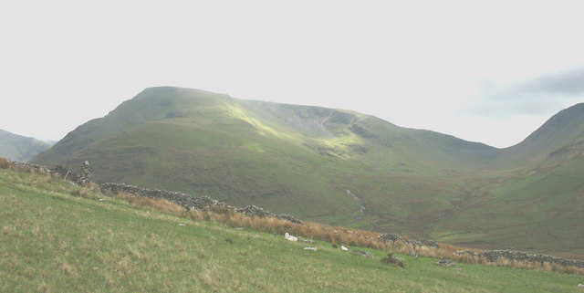 Looking  towards Moel Cynghorion from the fields of Hafodty Newydd