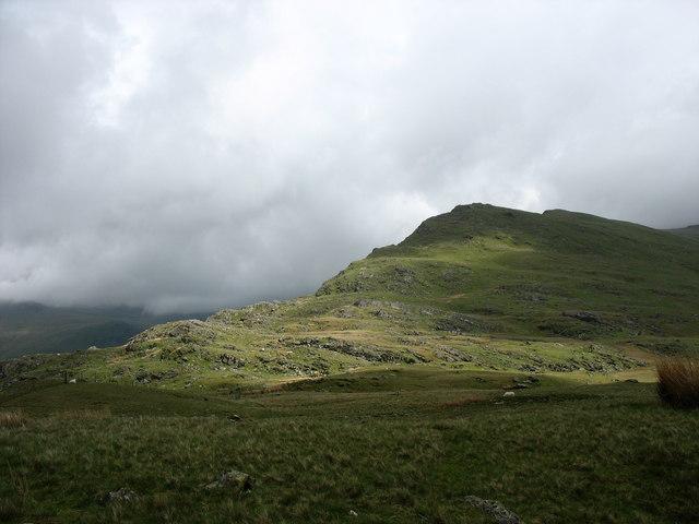 Sunlit north-western slope of Tryfan