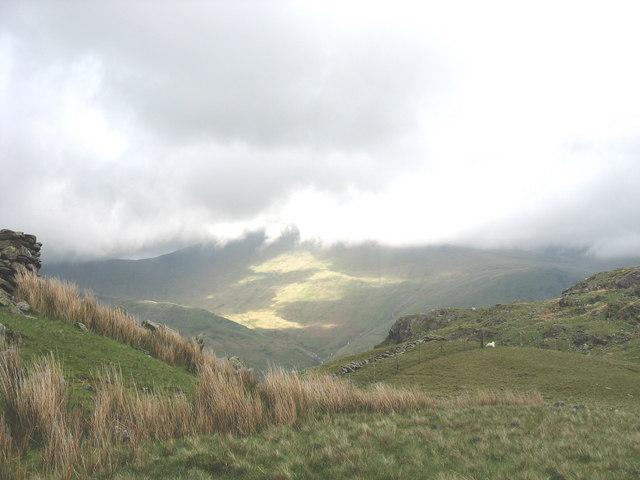 The Col between Y Derlwyn and Tryfan