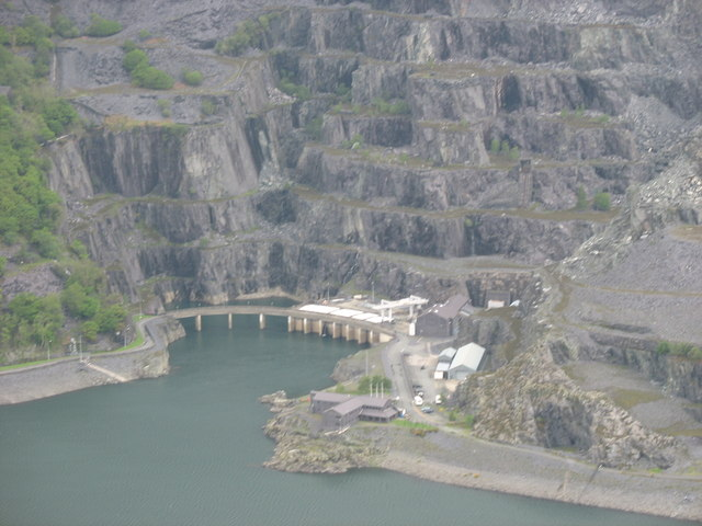 The outlet (and inlet ) of the Dinorwig HEP Scheme