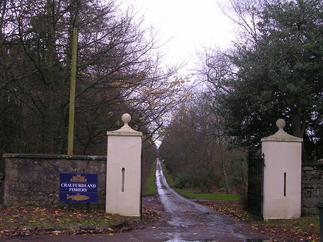 Entrance to Craufurdland Castle and Fishery