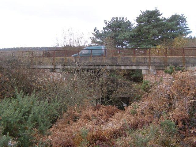 Disused railway bridge west of Slap Bottom, New Forest