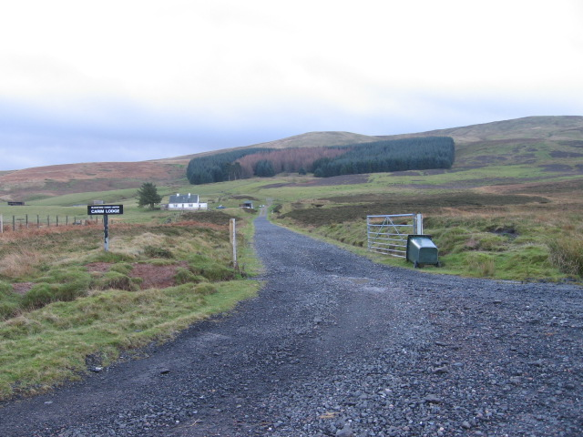 Track to Carim Lodge