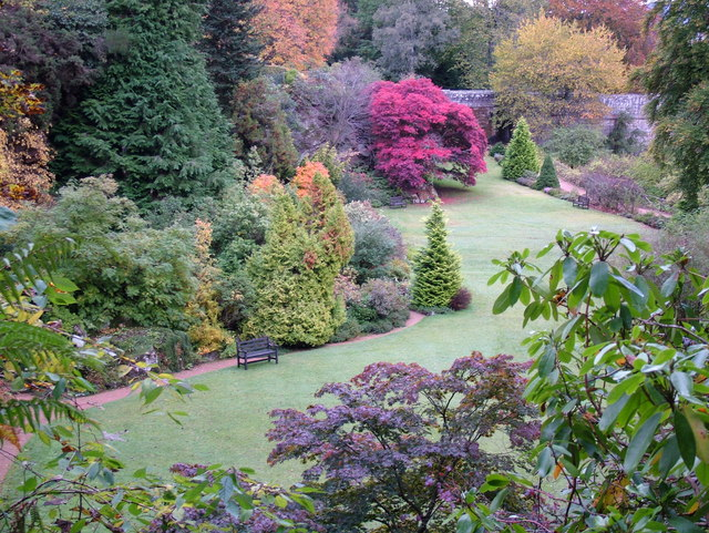 Kildrummy Castle Gardens in Autumn