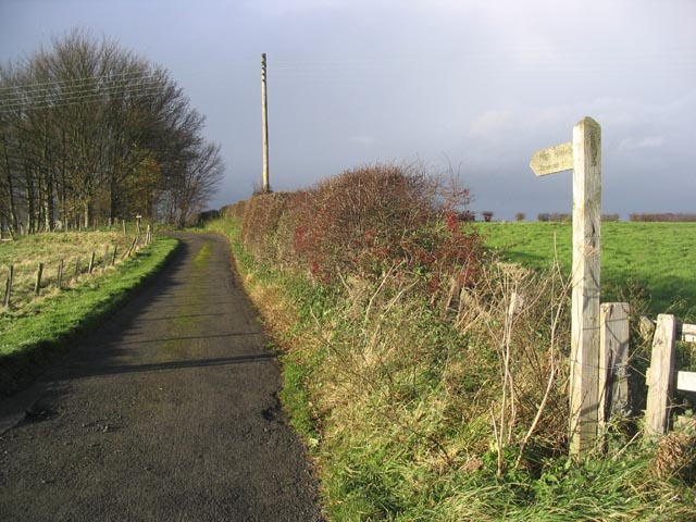 Right of way route to Crookham