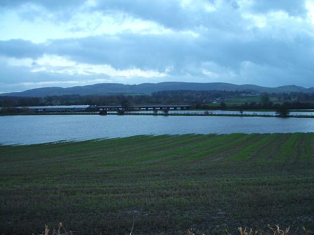 Floods near the railway bridge