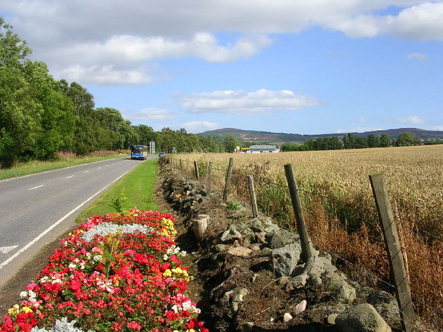 The Road (A944) from Alford to Aberdeen