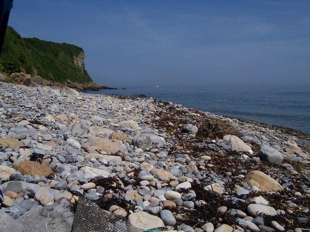 Pebble beach near Benllech (Spot the tourists)