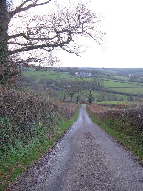 Lane into Yeo valley