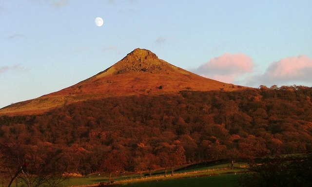 Roseberry Topping From A173 Near the Railway Bridge