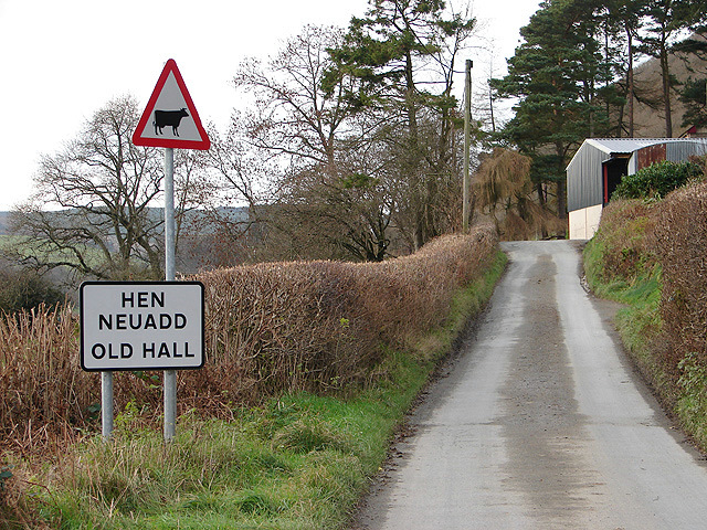 The approach to Hen Neuadd (Old Hall)