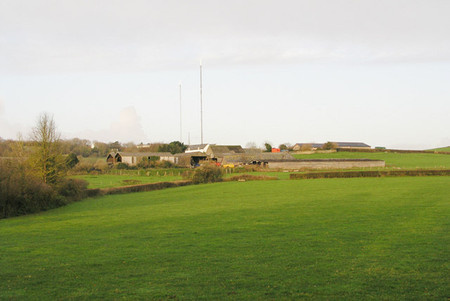 View from Station Road East towards Grieve Farm, Wenvoe