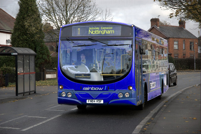 Clean new bus