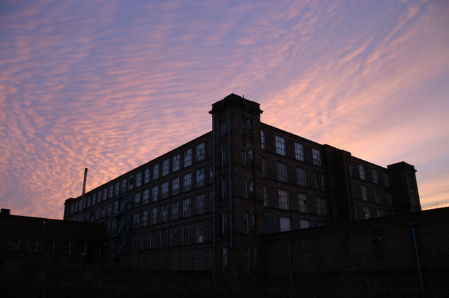 Sunset over Mutual Mill