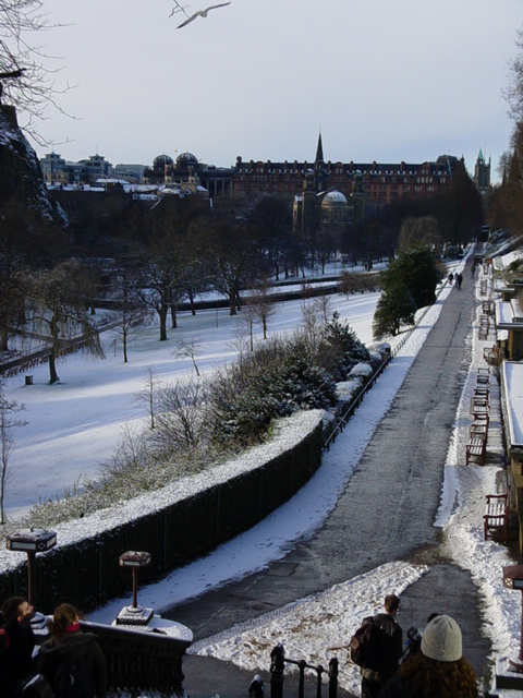 Princes Street Gardens in Snow 01