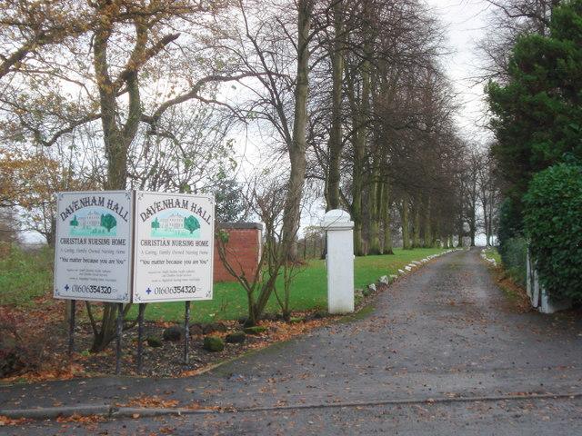 Entrance to Davenham Hall