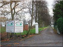 SJ6670 : Entrance to Davenham Hall by David Marten