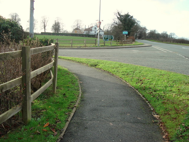 Junction of A54 and Birch Lane