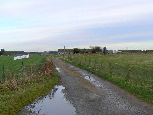Newmill farm road