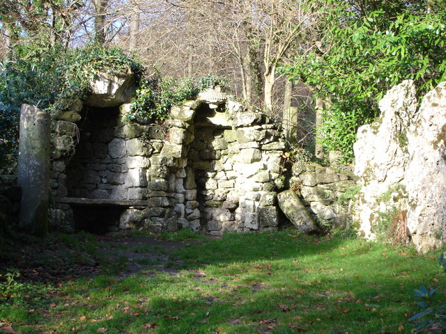 Ruined walls within grounds of Old Wardour Castle
