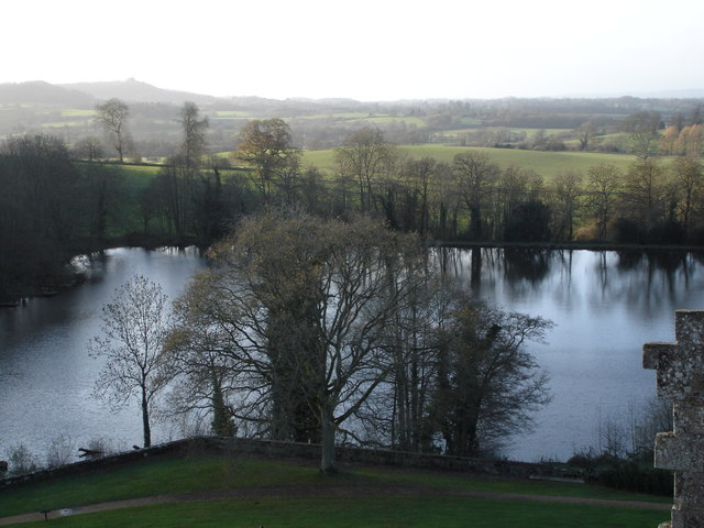 The lake at Old Wardour Castle