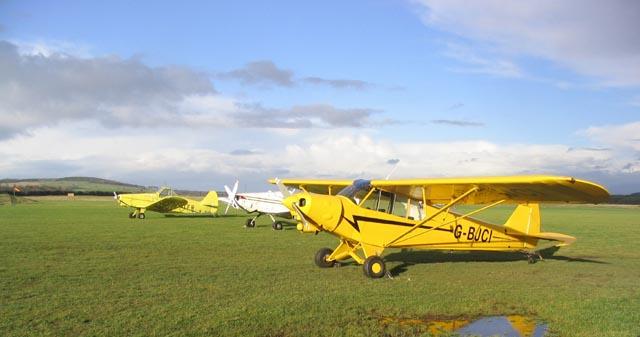 Aircraft at Milfield airfield