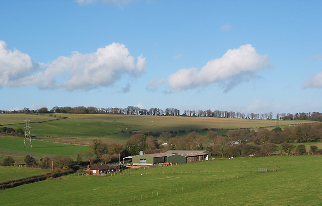 Northern end of Hensting Valley, seen from footpath at Boyes Copse