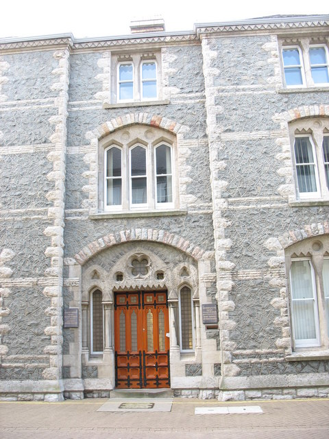 The main entrance to the old Caernarfon prison