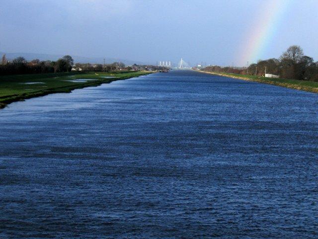 River Dee/Afon Dyfrdwy at Higher Ferry