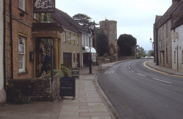 Outside the Ilchester Arms